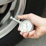 Aparato para medir la presion de las ruedas