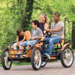 Bicicletas de cuatro ruedas para cuatro personas
